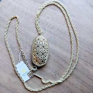 🆕NWT Kendra Scott 14K Gold Plated Rae Necklace